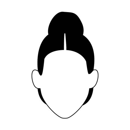 default old woman icon over white background, vector illustration