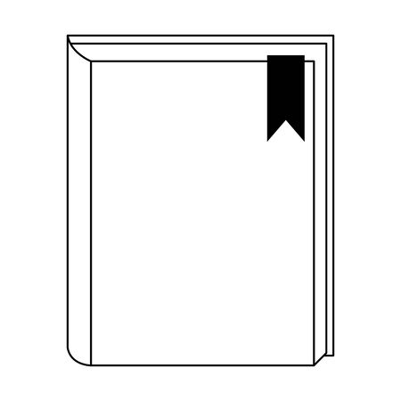 Academic book icon over white background, vector illustration