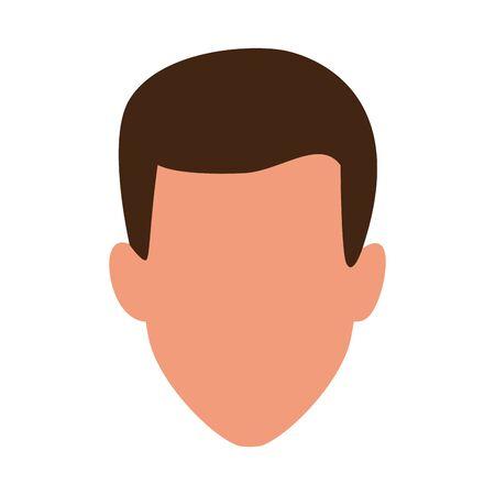 avatar man icon over white background, colorful design. vector illustration Ilustrace