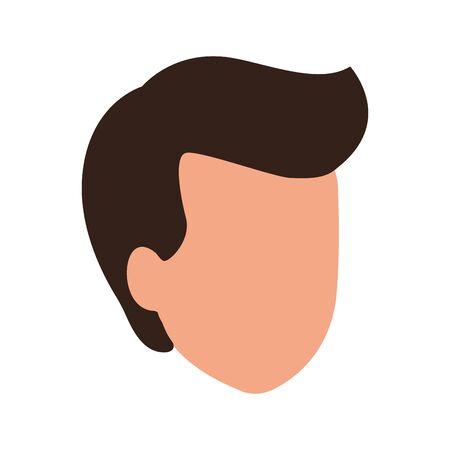 default profile man icon over white background, vector illustration