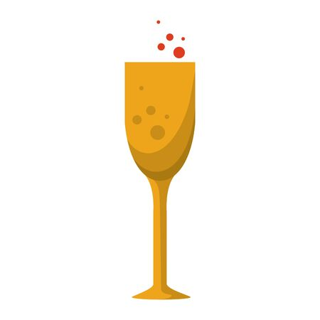 champagne glass celebration cup isolated cartoon vector illustration graphic design Stock fotó - 133907046