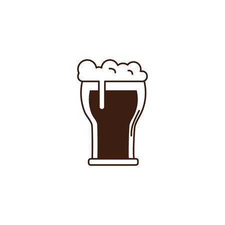 beer glass oktoberfest celebration isolated icon vector illustration design Reklamní fotografie - 133906948
