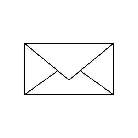envelope icon over white background, vector illustration Illusztráció