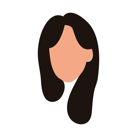 default woman icon over white background, vector illustration Ilustrace