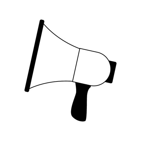 megaphone device icon over white background, vector illustration
