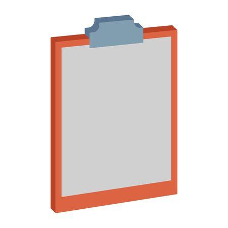 Blank document clipboard isometric symbol ,vector illustration graphic design. Ilustração