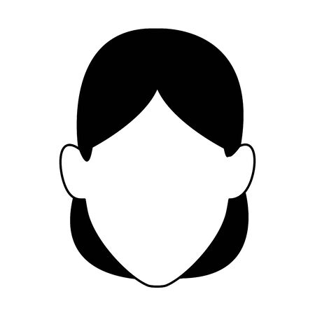 default woman face icon over white background, vector illustration Ilustrace