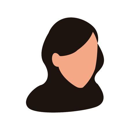 avatar woman head icon over white background, vector illustration Stock Illustratie