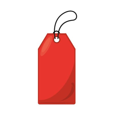 commercial tag hanging isolated icon vector illustration design