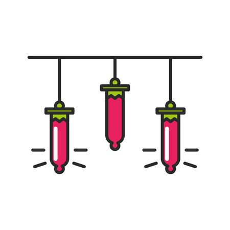 merry christmas lights bulbs icon vector illustration design