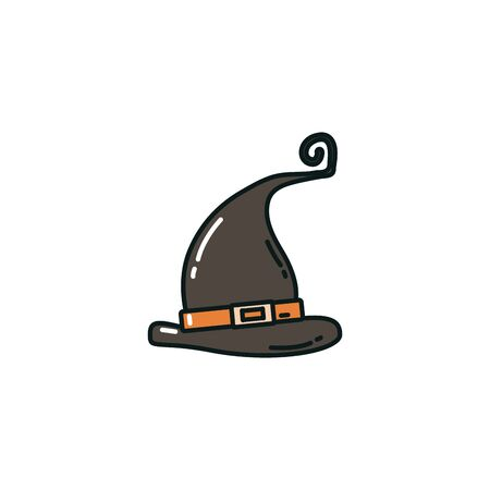 witch hat accessory flat icon vector illustration design