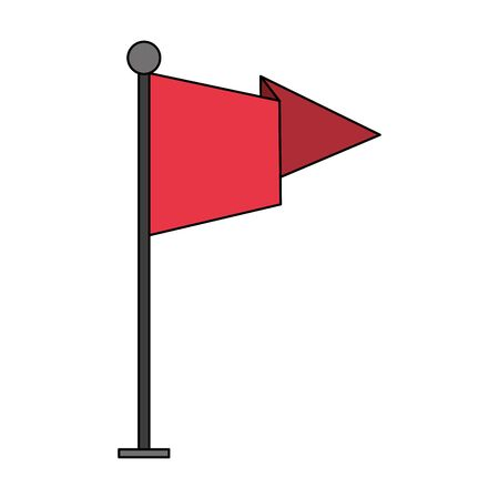 flag pennant emblem symbol isolated cartoon vector illustration graphic design