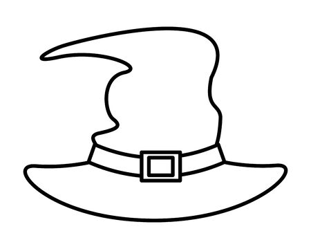 halloween witch hat accessory icon vector illustration design