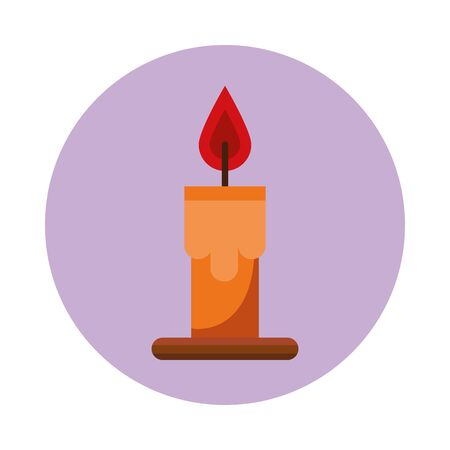 candle fire isolated icon vector illustration design Ilustracja