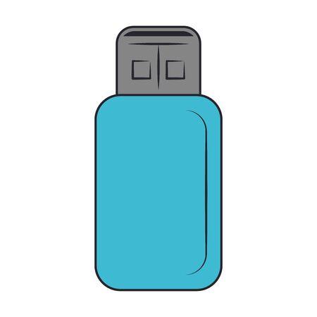 usb memory stick icon over white background, vector illustration Ilustrace