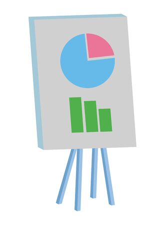 Business graph on whiteboard isometric ,vector illustration graphic design. Stock fotó - 133701076