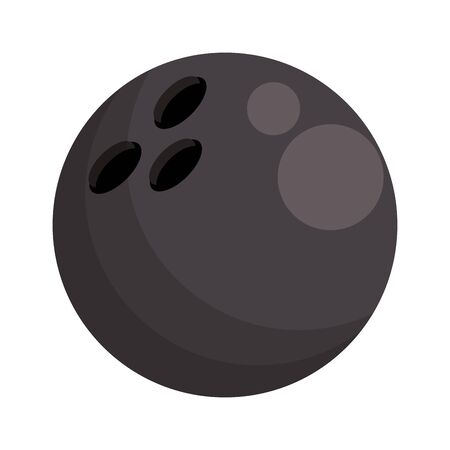 bowling ball icon over white background, vector illustration
