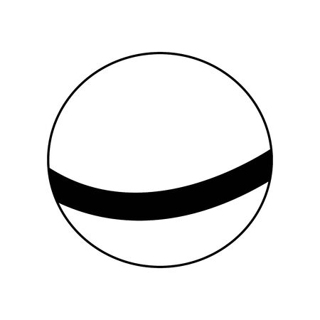 ball icon over white background, vector illustration