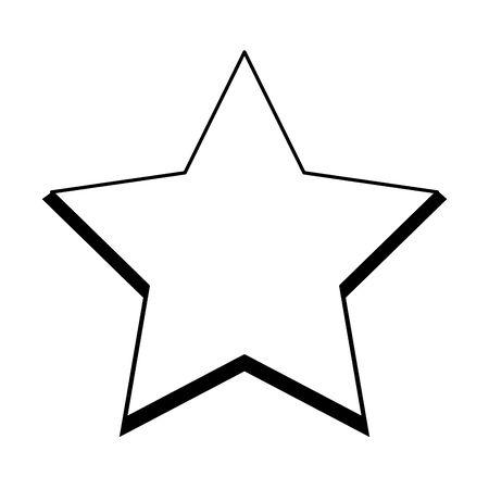 star shape icon over white background, vector illustration