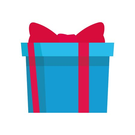 gift box icon over white background, colorful design. vector illustration Foto de archivo - 133701450