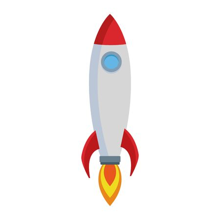 space rocket icon over white background, colorful design. vector illustration Ilustrace