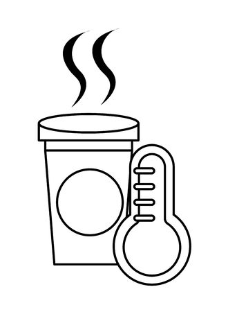 coffee in plastic container icon vector illustration design Illusztráció