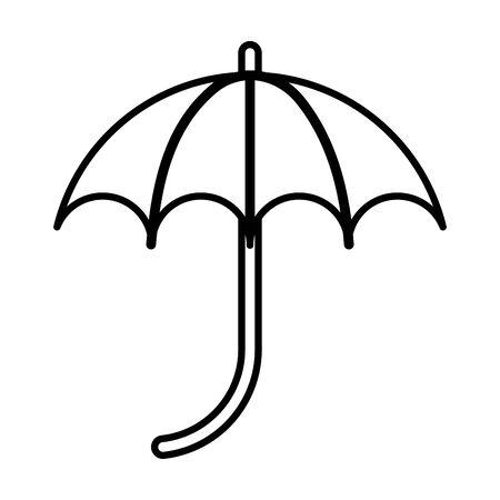 umbrella protection accessory isolated icon vector illustration design  イラスト・ベクター素材
