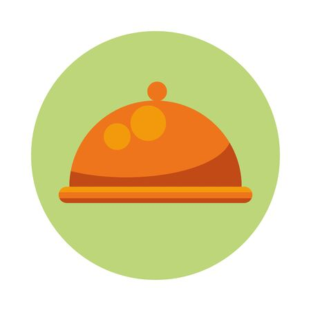 tray server dish isolated icon vector illustration design 일러스트
