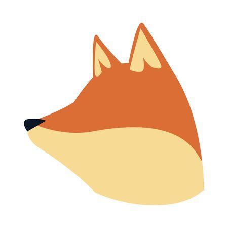 cartoon fox head icon over white background, colorful design.vector illustration Foto de archivo - 133702019