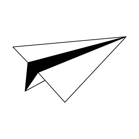 paper airplane icon over white background, vector illustration