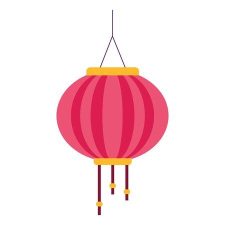 oriental lantern icon over white background, colorful design. vector illustration Ilustracja