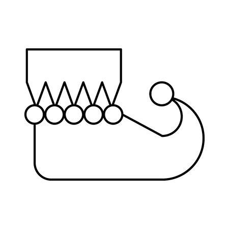 christmas elf shoe boot icon vector illustration design Illusztráció