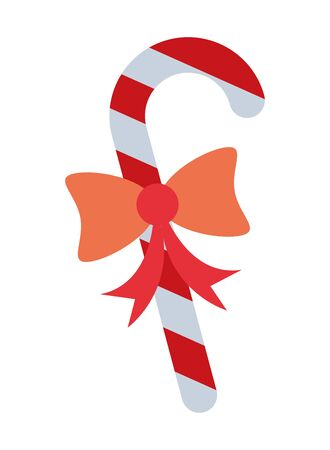 merry christmas sweet cane icon vector illustration design