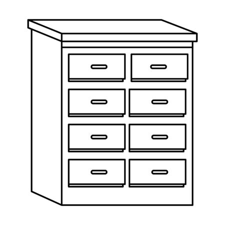 Office drawer furniture cartoon isolated ,vector illustration graphic design. 写真素材 - 133702436