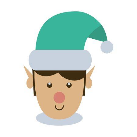 cute santa helper christmas character vector illustration design Çizim