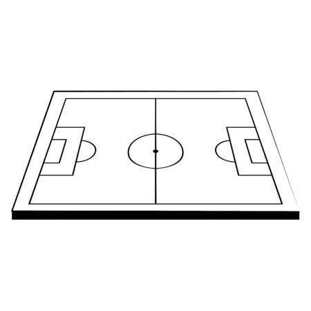 Soccer football playfield stadium cartoon vector illustration graphic design