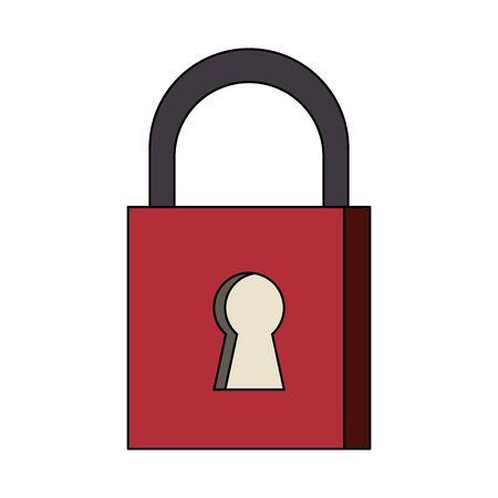 security padlock safety sign cartoon vector illustration graphic design Иллюстрация