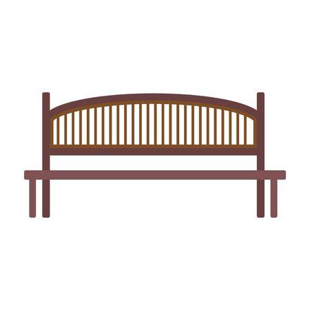 park bench icon over white background, vector illustration
