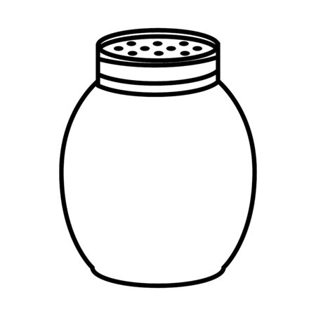 thanksgiving preserve jar isolated icon vector illustration design 向量圖像