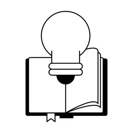 knowledge education idea concept elements cartoon vector illustration graphic design in black and white 일러스트