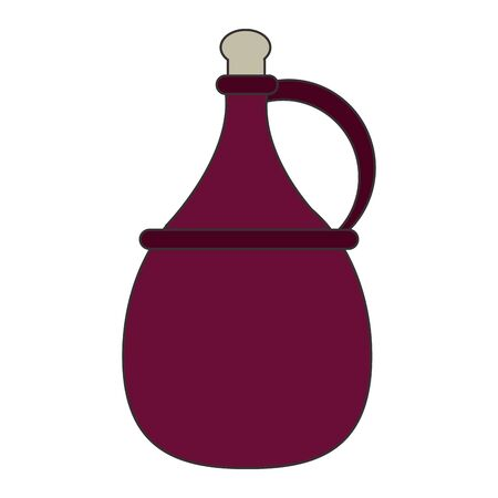 jug of wine icon over white background, vector illustration