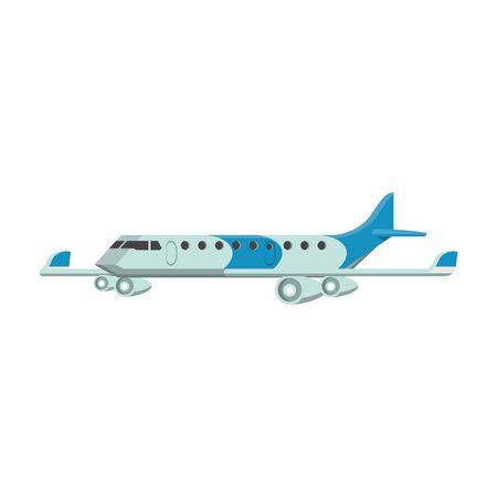 Jet airplane aircraft sideview isolated Ilustração