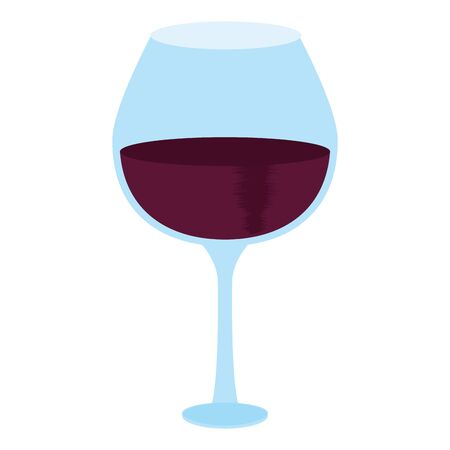 wine glass icon image over white background, vector illustration