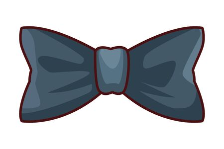 bow tie icon cartoon vector illustration graphic design