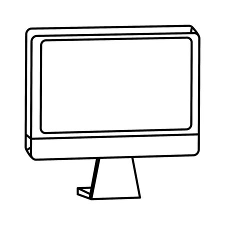 Computer monitor screen hardware technology ,vector illustration graphic design. Illustration