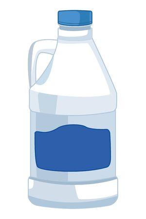 laver le linge et nettoyer l'icône de l'eau de Javel cartoon vector illustration graphic design