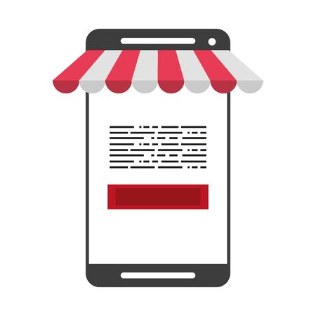 Online shopping and payment smartphone store symbol vector illustration graphic design Illusztráció