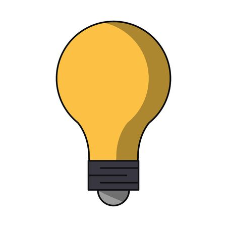 Bulb light energy and big idea symbol vector illustration graphic design