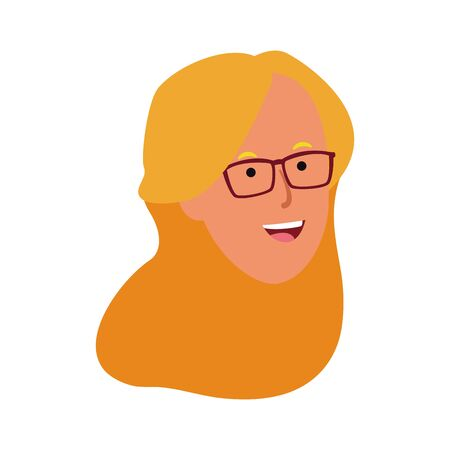 woman with glasses icon over white background, vector illustration 스톡 콘텐츠 - 133756298