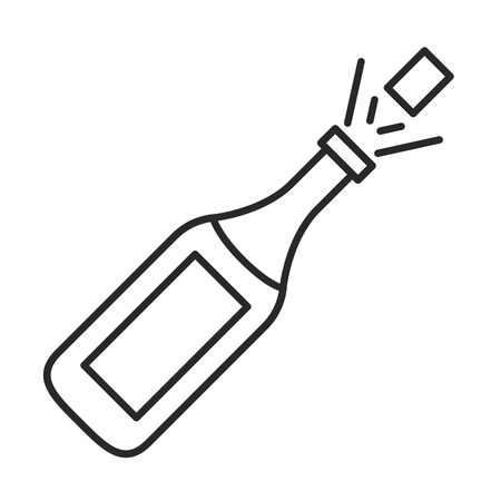 champagne bottle drink isolated icon vector illustration design